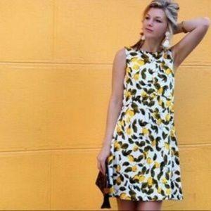 Zara Basic Women's Lemon Print Shift Dress Sz XS